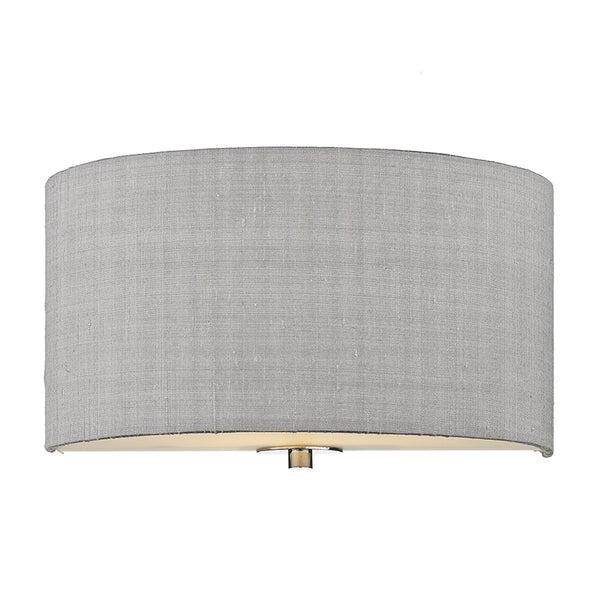 RENOIR 1 Light Silk Wall Light - Silver Grey