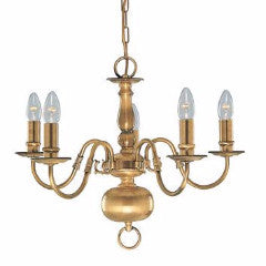 FLEMISH 5 Light in Antique Brass