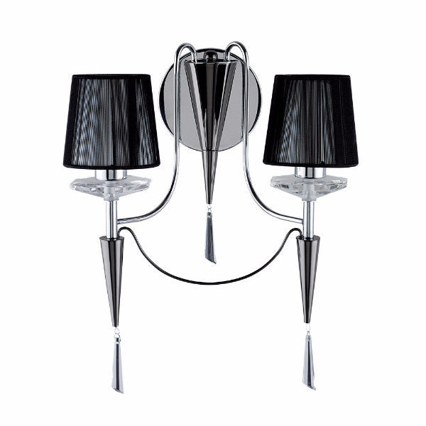 DUCHESS Double Wall Light in Black/Chrome