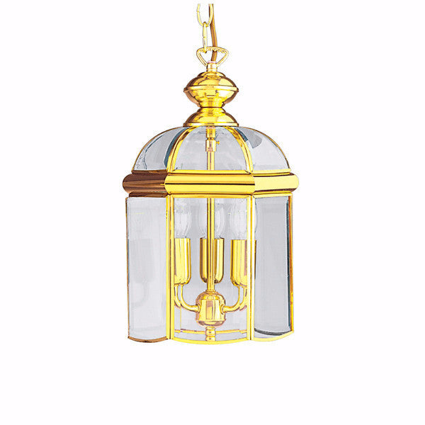BEVELLED Glass Lantern - Large in Brass