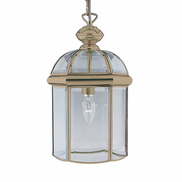 BEVELLED Glass Lantern - Small in Antique