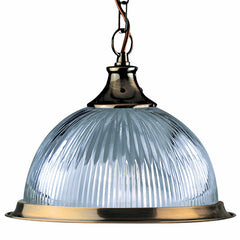 AMERICAN DINER Single Pendant in Antique Brass