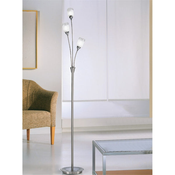 CAMPANI Floor Lamp - Satin Nickel
