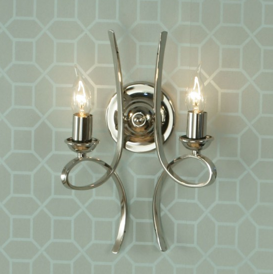 PENN Double Wall Light in Polished Nickel