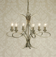 PENN 6 Light Chandelier in Brushed Brass