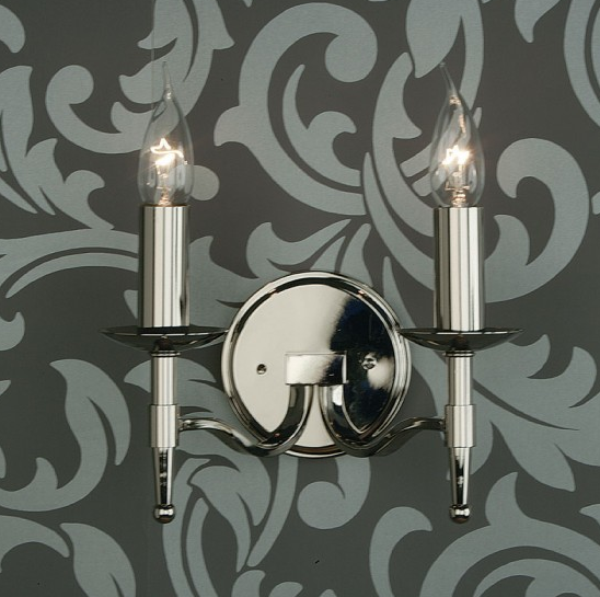 STANFORD Double Wall Light in Polished Nickel