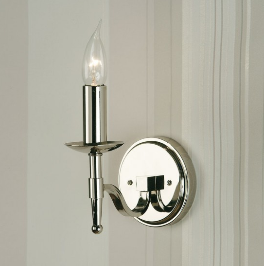 STANFORD Single Wall Light in Polished Nickel