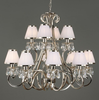 OKSANA 12 Light Chandelier in Nickel