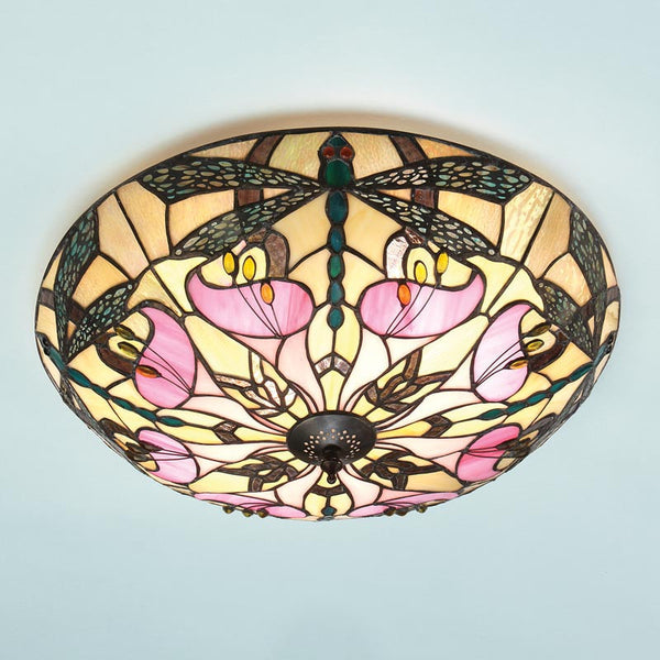 ASHTON Tiffany 2 Light Semi Flush