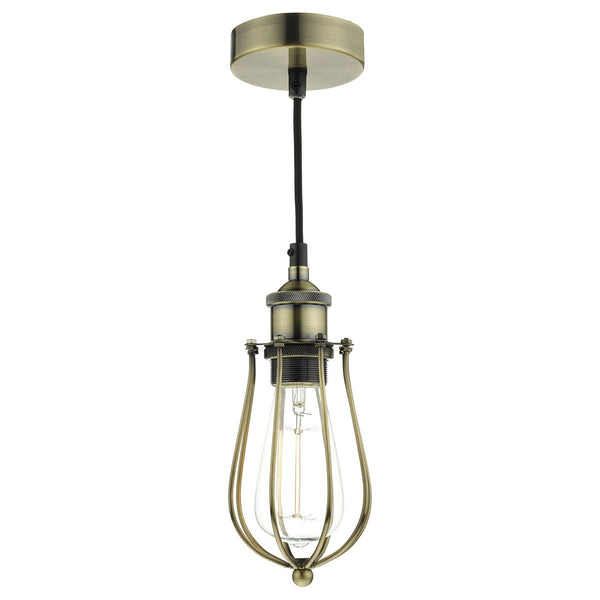 TAURUS 1 Light Single Pendant - Antique Brass