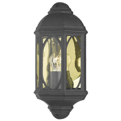 TENBY 1 Light Outdoor Wall Lantern in Black