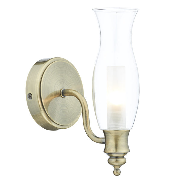 VESTRY Bathroom Wall Light - Antique Brass