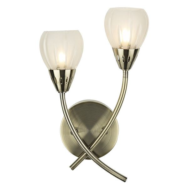 VILLA Double Wall Light - Brass