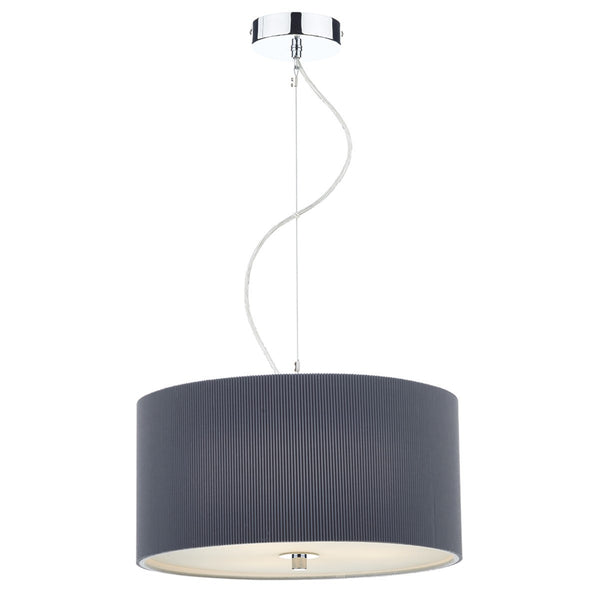 ZARAGOZA 3 Light 40cm Pendant - Grey