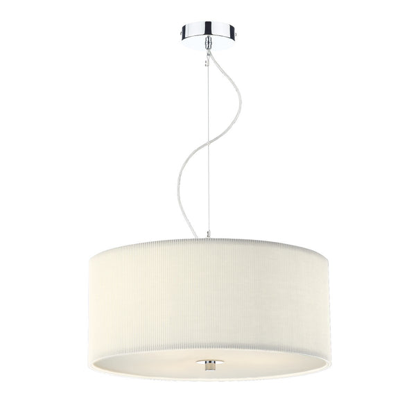 ZARAGOZA 3 Light 60cm Pendant - Cream