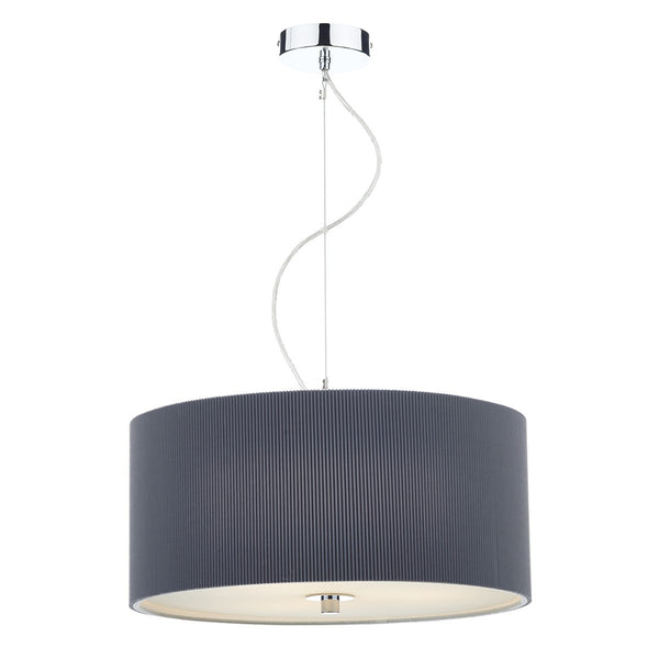 ZARAGOZA 3 Light 60cm Pendant - Grey