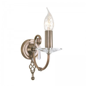 AEGEAN Single Wall Light in Aged Brass