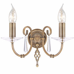 AEGEAN Double Wall Light in Aged Brass