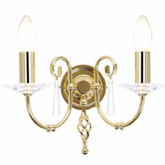 AEGEAN Double Wall Light in Polished Brass