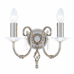 AEGEAN Double Wall Light in Polished Nickel
