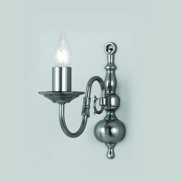 FLEMISH Single Wall Light - Pewter