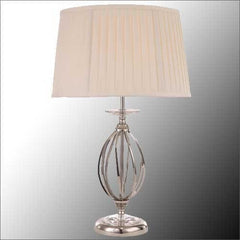 AEGEAN Table Lamp in Polished Nickel