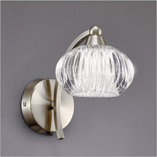 RIPPLE Single Wall Light - Satin Nickel