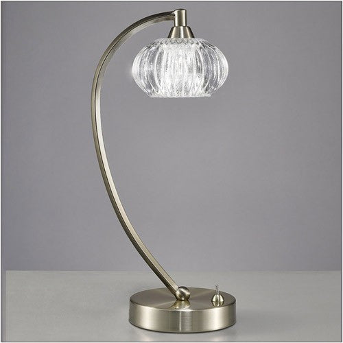 RIPPLE Table Lamp - Satin Nickel