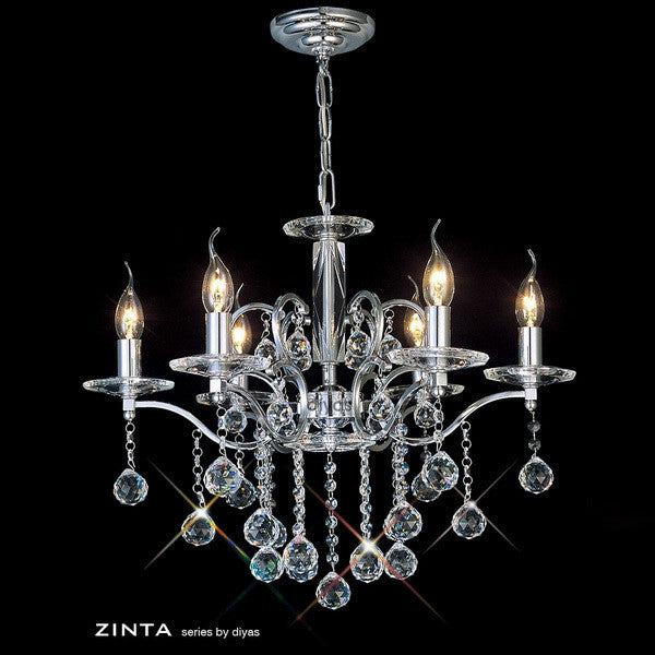 ZINTA 6 Light Chandelier - Chrome
