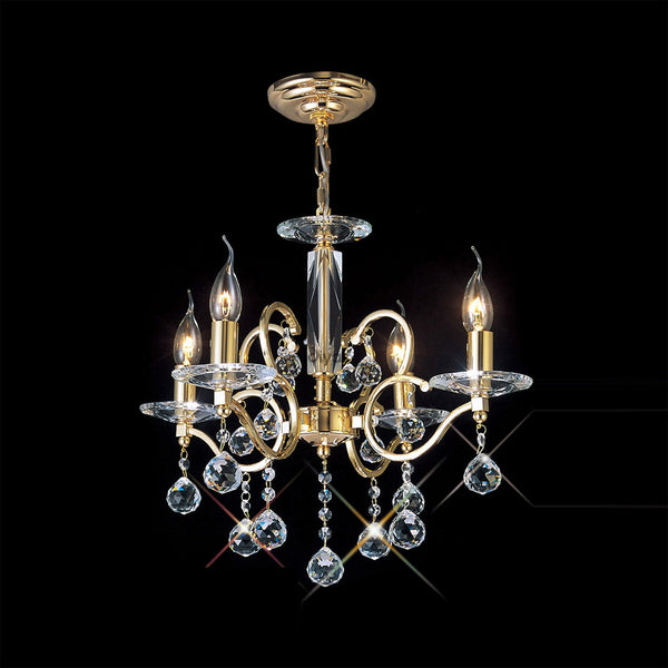 ZINTA 4 Light Chandelier - Gold