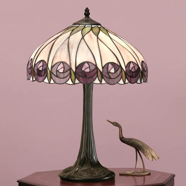 HUTCHINSON Tiffany 1 Light Table Lamp