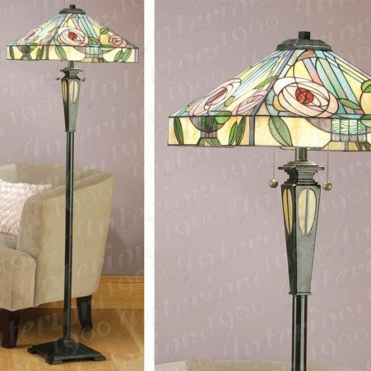WILLOW Tiffany 2 Light Floor Lamp
