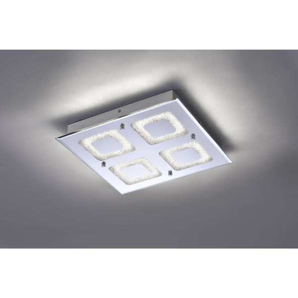 LISA 4 Light LED Ceiling Flush - Chrome