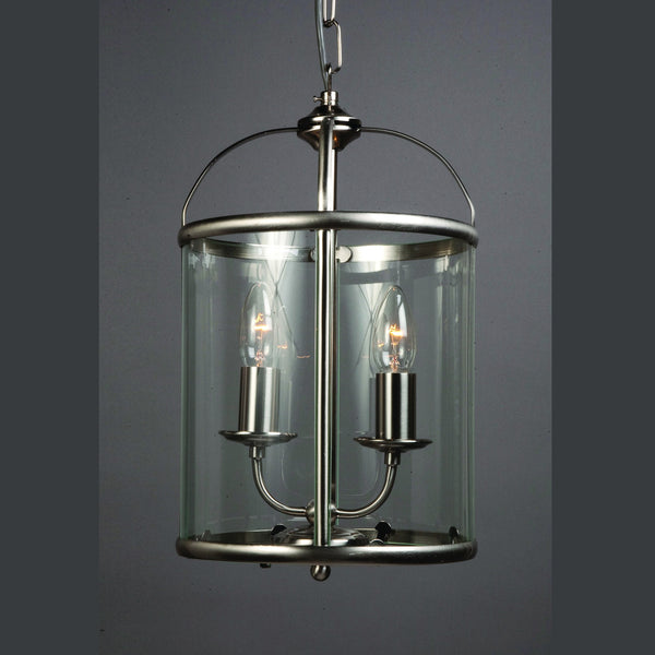 ORLY 2 Light Lantern - Satin Nickel