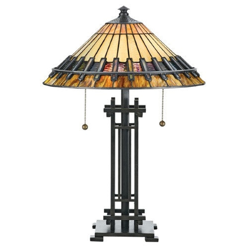 CHASTAIN 2 Light Tiffany Table Lamp