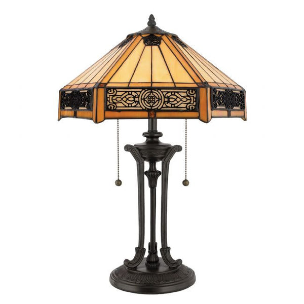 INDUS 2 Light Tiffany Table Lamp