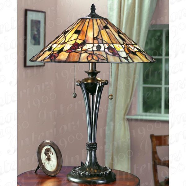 BERNWOOD Tiffany 2 Light Table Lamp