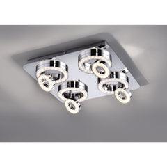 TIM 8 Light LED Ceiling Flush - Chrome
