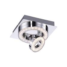 TIM 2 Light LED Ceiling Flush - Chrome