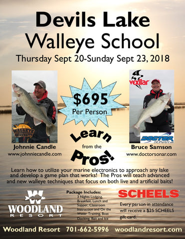 Devils Lake Walleye School