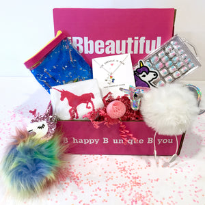 iBbeautiful monthly subscription box  girls unicorn box