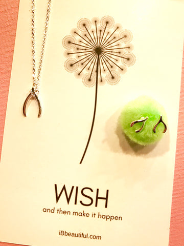 Wish Necklace + Earring Set