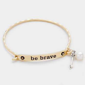 Be Brave Arrow Charm Bracelet