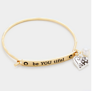 Be YOU tiful Charm Bracelet Gold