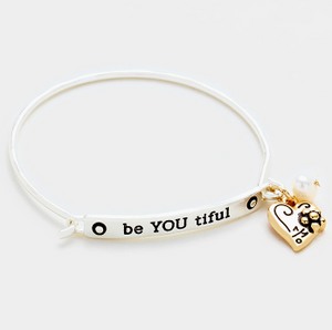 Be YOU tiful Charm Bracelet Silver