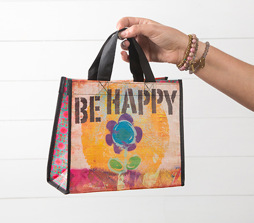 Be Happy Recycled Bag