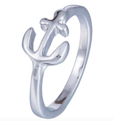 """Captain of My Own Journey"" Anchor Ring"