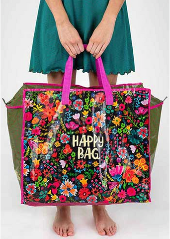 Jumbo Happy Bag Zip Tote