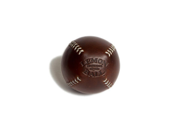 Leather Head Sports Lemon Ball - Brown with White Stitch