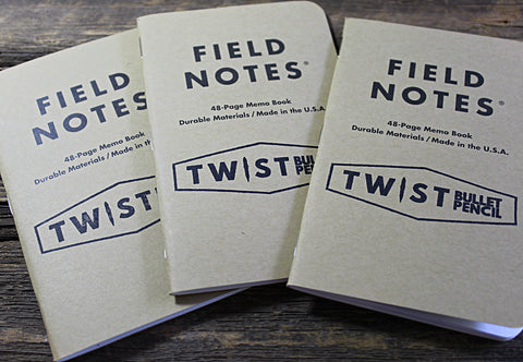 Twist Bullet Pencil Custom Stamped Field Notes